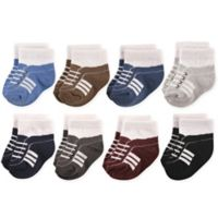 Hudson Baby® Size 6-12M 8-Pack Athletics Short Crew Socks