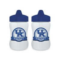 Baby Fanatic® University of Kentucky 9 oz. Sippy Cups in Blue/White (Set of 2)
