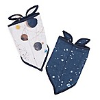Little Unicorn™ 2-Pack Cotton Muslin Bandana Bib in Planetary