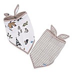 Little Unicorn™ 2-Pack Cotton Muslin Bandana Bib in Forest Friends