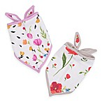 Little Unicorn™ 2-Pack Cotton Muslin Bandana Bib in Summer Poppy