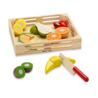 Melissa & Doug® Wooden Fruit Crate Cutting