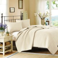 Hampton Hill Velvet Touch King Coverlet Set in Ivory