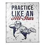 "Designs Direct ""Practice Like an All-Star"" Fleece Football Blanket"
