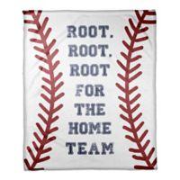 """Designs Direct """"Root For the Home Team"""" Fleece Baseball Blanket"""