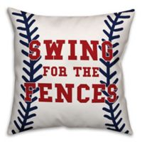 "Designs Direct ""Swing for the Fences"" Baseball Throw Pillow"