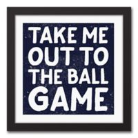 """Designs Direct """"Take Me Out to the Ball Game"""" 12-Inch Square Framed Canvas Wall Art"""