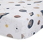 Little Unicorn Planetary Cotton Muslin Fitted Sheet in Grey/Blue