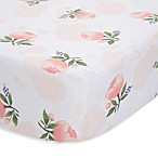 Little Unicorn Watercolor Rose Cotton Muslin Fitted Sheet in Orange