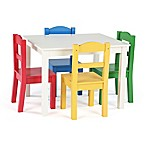 Tot Tutors 5-Piece Table & Chairs Set in White