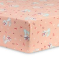 Trend Lab® Fox and Flowers Flannel Fitted Crib Sheet in Pink