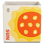 kaikai & ash Sun Kid's Canvas Storage Bin in Orange/Yellow