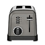 Cuisinart® 2-Slice Stainless Steel Toaster in Black Stainless