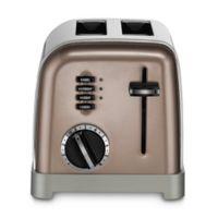 Cuisinart® 2-Slice Stainless Steel Toaster in Umber