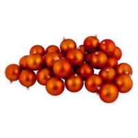 Northlight 12-Pack 4-Inch Christmas Ball Ornaments in Orange