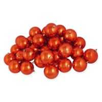 Northlight 12-Pack 4-Inch Shiny Christmas Ball Ornaments in Orange