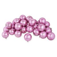 Northlight 12-Pack 4-Inch Shiny Christmas Ball Ornaments in Pink
