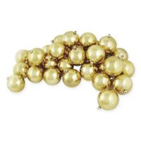 Northlight 4-Inch Shatterproof Shiny Christmas Ball Ornaments in Champagne (Set of 12)
