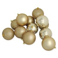 Northlight 16-Pack 3-Inch Christmas Ball Ornaments in Gold