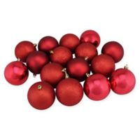 Northlight 16-Pack 3-Inch Christmas Ball Ornaments in Red