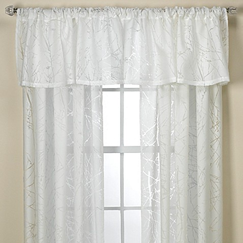 Branchbrook Sheer Window Curtain Panel And Valance Bed