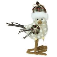 Northlight 9-Inch Bird Christmas Decoration in Brow/White