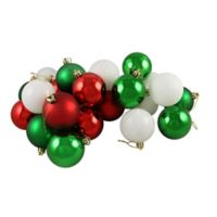 Northlight 24-Pack Christmas Ball Ornaments in Green/White/Red
