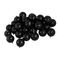 Northlight 32-Pack Shiny Christmas Ball Ornaments in Jet Black