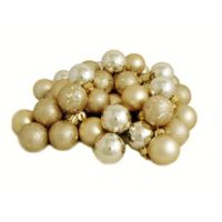 Northlight 24-Pack Christmas Ball Ornaments in Champagne