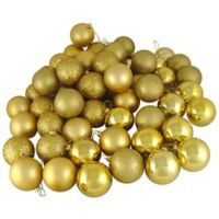 Northlight 24-Pack Christmas Ball Ornaments in Gold