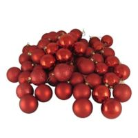 Northlight 24-Pack Christmas Ball Ornaments in Red