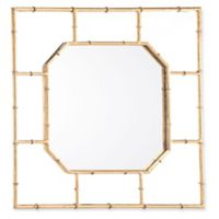 Zuo® Modern Square Bamboo-Style Mirror in Gold