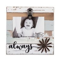 Sweet Bird & Co. Reclaimed Wood Always 4-Inch x 6-Inch Clip Picture Frame in Blue