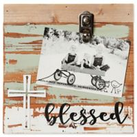 Sweet Bird & Co. Reclaimed Wood Blessed 4-Inch x 6-Inch Clip Picture Frame in Seafoam