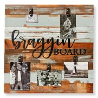 Sweet Bird & Co. Reclaimed Wood Brag Board 5-Photo Collage Clip Picture Frame in Blue