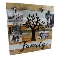 Sweet Bird & Co. Reclaimed Wood Family 5-Photo Collage Clip Picture Frame in Blue