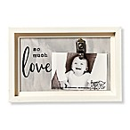 Sweet Bird & Co. Artful Wood So Much Love 4-Inch x 6-Inch Clip Picture Frame in Grey