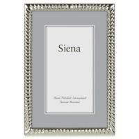Siena 4-Inch x 6-Inch Narrow Spiral Silver-Plated Picture Frame