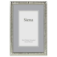 Siena 5-Inch x 7-Inch Narrow Spiral Silver-Plated Picture Frame