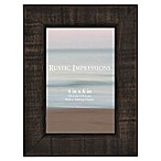 Rustic 4-Inch x 6-Inch Textured Wood Picture Frame in Walnut