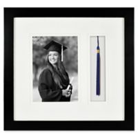 Gallery Wood Tassel 5-Inch x 7-Inch Picture Frame in Black