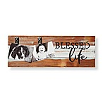Sweet Bird & Co. Reclaimed Wood Blessed Life 2-Photo Collage Clip Picture Frame in Blue