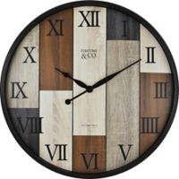 FirsTime® Timberline Wall Clock in Bronze/Wood
