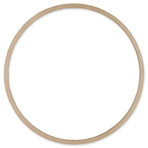 image of Hillsdale 41-Inch Round Mirror in Taupe