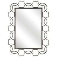 Hillsdale 39-Inch x 52-Inch Rectangle Scroll Wall Mirror in Distressed Grey