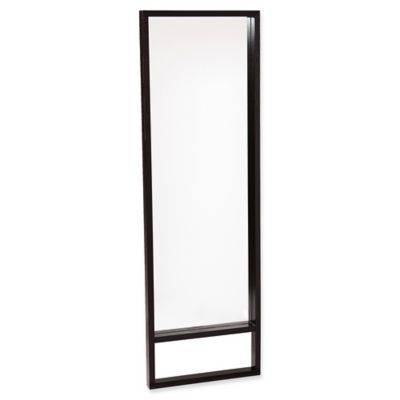 full length wall mounted mirror. Southern Enterprises Jaxon Full-Length Leaning/Mount Wall Mirror In Ebony Stain Full Length Mounted