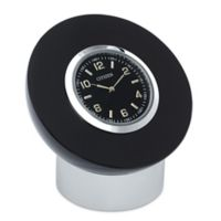 Citizen Decorative Accent Black Dial/Crystal Frame Circular Desk Clock with Engravable Plaque