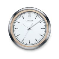 Citizen Gallery Light Beige and Silver-Tone with Silver Color Dial Wall Clock