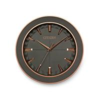 Citizen Gallery Grey Leather with Textured Grey Dial Wall Clock