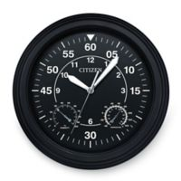 Citizen Outdoor Weather-Resistant Black with Black Dial Luminescent Wall Clock